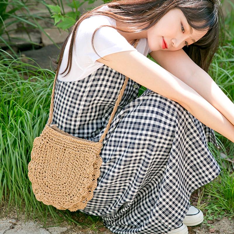 Cool Retro Woven Bag for Beach Wear