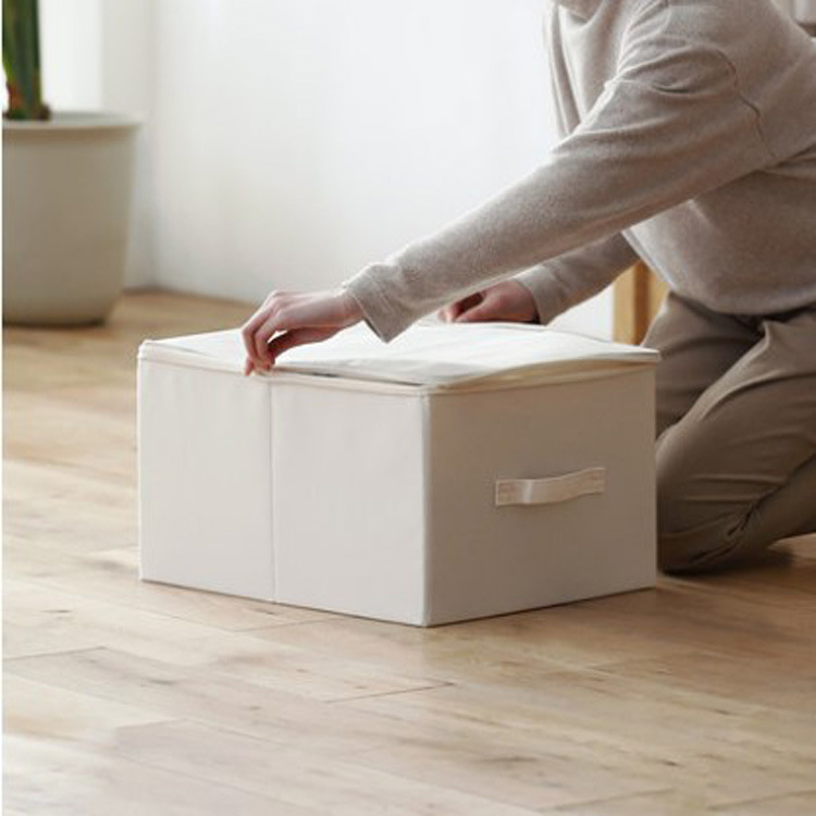 Large Foldable Cloth Zipped Storage Box for Clothes