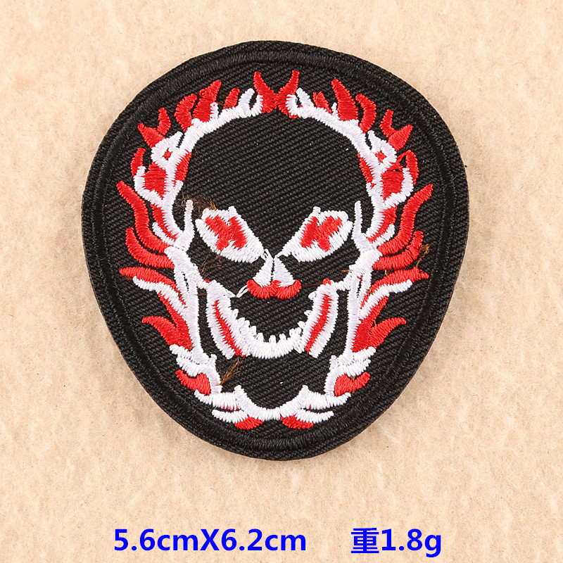 Thug Skull Embroidered Cloth Patches for Punk-Style Clothes Decorations