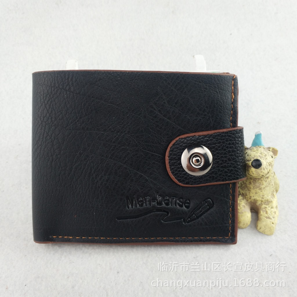 Stylish Large-Capacity Magnetic Buckled Wallet for Dads Cash Storage