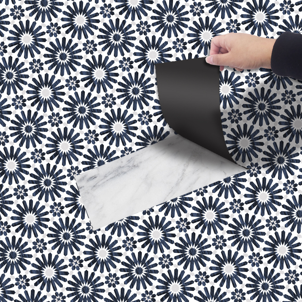 Thick Flower Pattern Floor Sticker for Home Furnishing