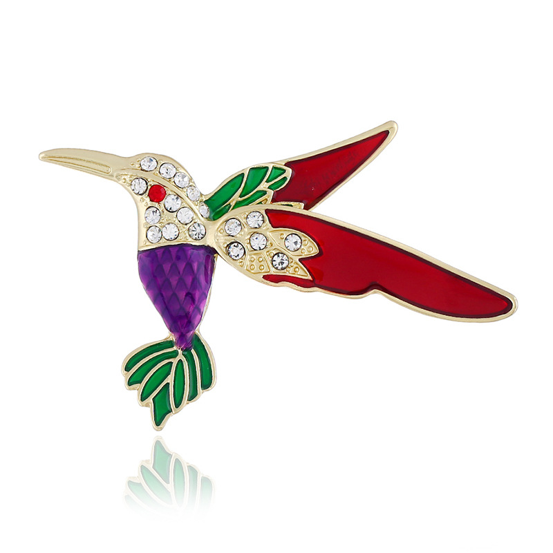 Flamboyant Kingfisher Brooch for Street Fashion Accessories