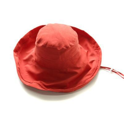 Fashionable Wide Brim Bucket Hat for Summer Travel Headwear