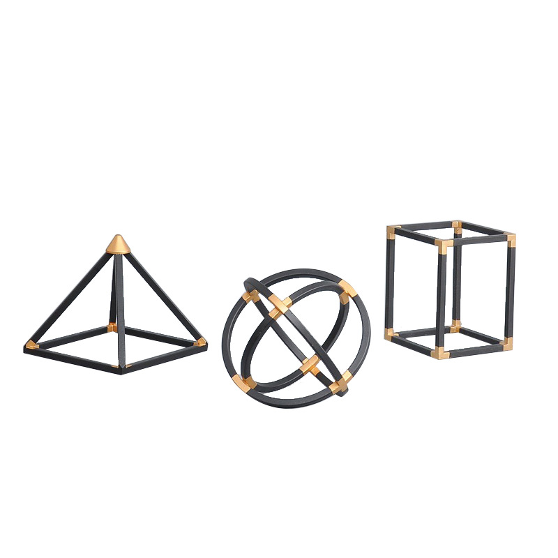 Geometric Shapes Decor for Study Table