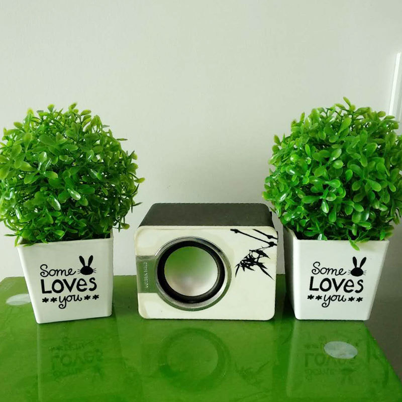 Artificial Potted Grass Decor for Office Pantry