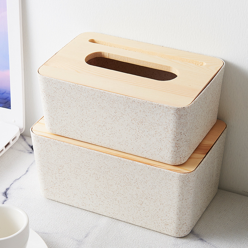 Ceramic Style Plastic Dual Purpose Tissue Box Cover for Watching Movies On Phone