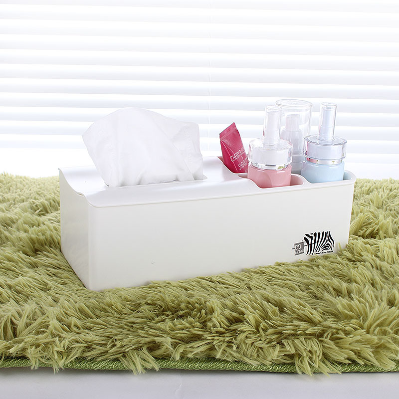 Simple Color Plastic Tray Tissue Box for Household Use