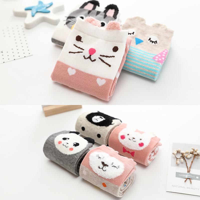 Soft Animal Character Long Socks for Kids