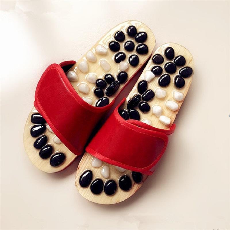 Natural Black & White Pebble Massage Sandals