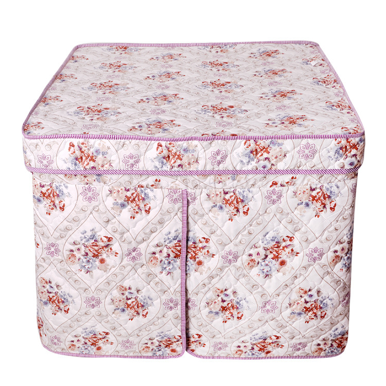 Retro Floral Cotton Tablecloth for Playing Mahjong