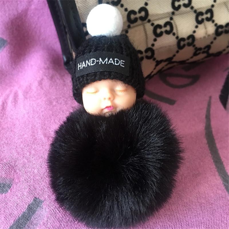 Hand Made Pom Baby Keychain Charm