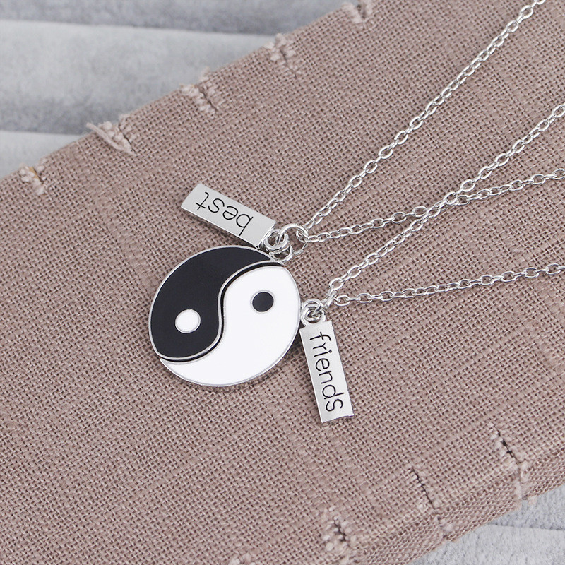 Matching Yin and Yang Best Friends Necklace for Memorable Gifts