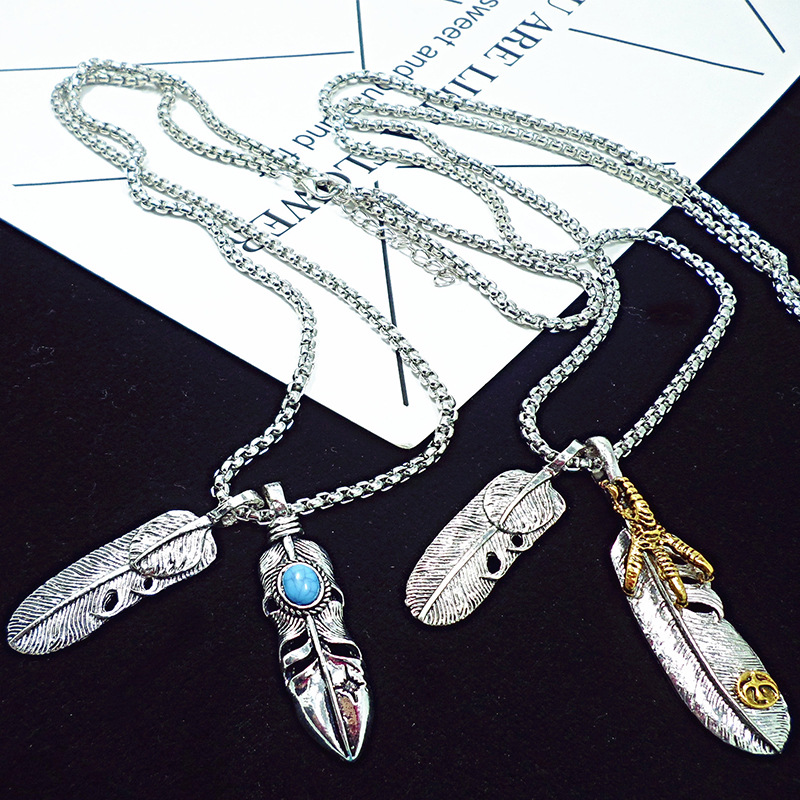 Awesome Feather Designed Necklace for Street Fashion