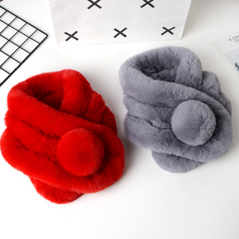 Easy To Use Synthetic Rabbit Fur Scarf for Winter Season