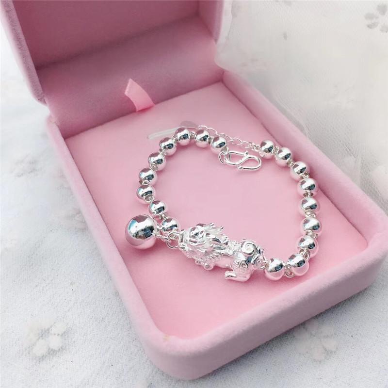 Pixiu Beaded Silver Bracelet