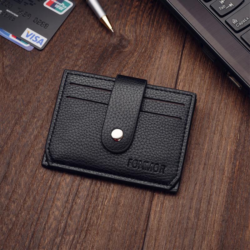 Sleek Colored Card Holder and Wallet for Slim Pockets