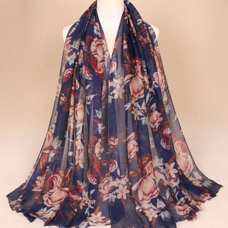 Floral Breathable Thin Scarf