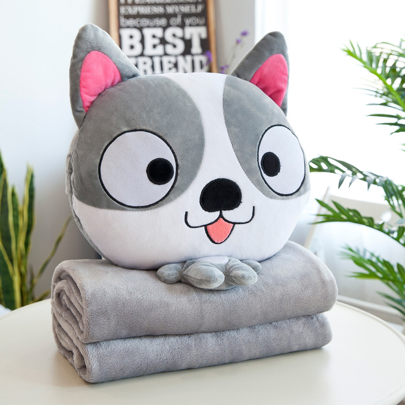 Big Headed Animals Pillow and Quilt Set for Kids Bedroom