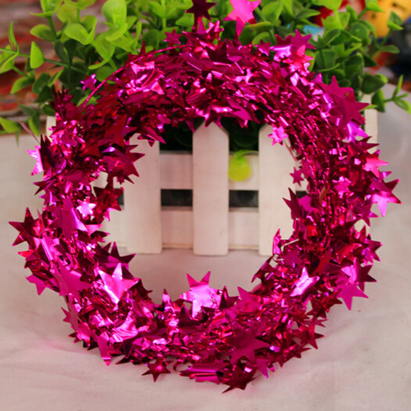 Starry Tinsel Wreaths