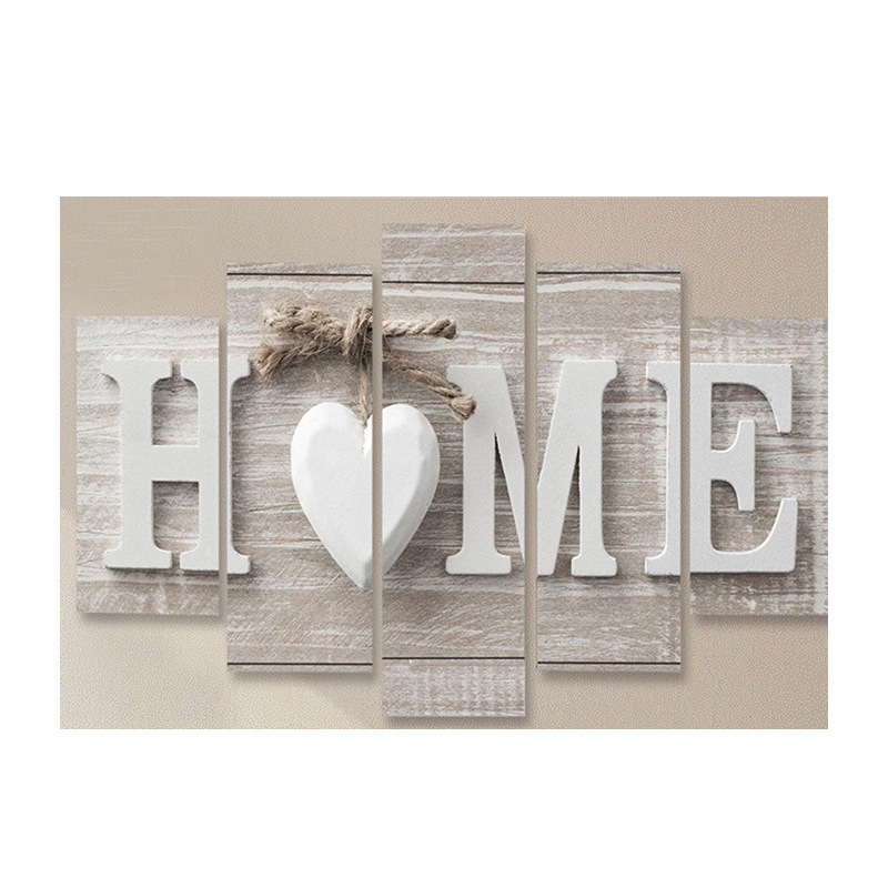 """Digitally-Printed """"HOME"""" Panel Painting for Loving Homes"""