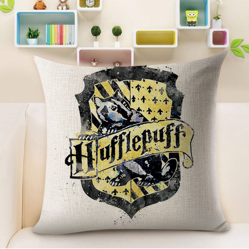 Witchy Hat and Colorful Trophy Decorative Pillowcase for Creative Rooms
