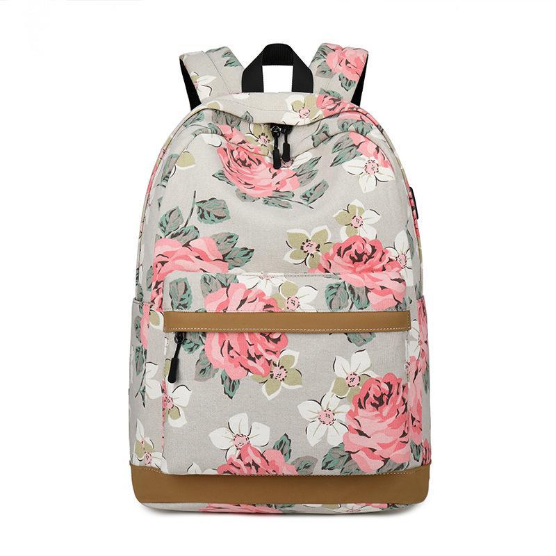 Floral Scholar's Backpack