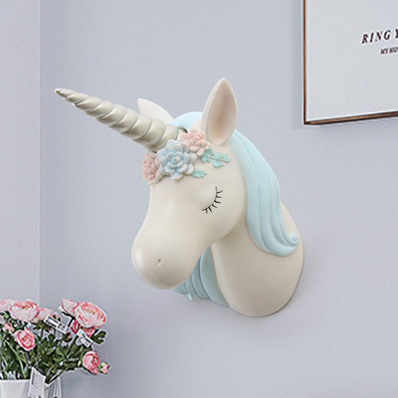 Chic Resin Unicorn Head for Wall Decoration