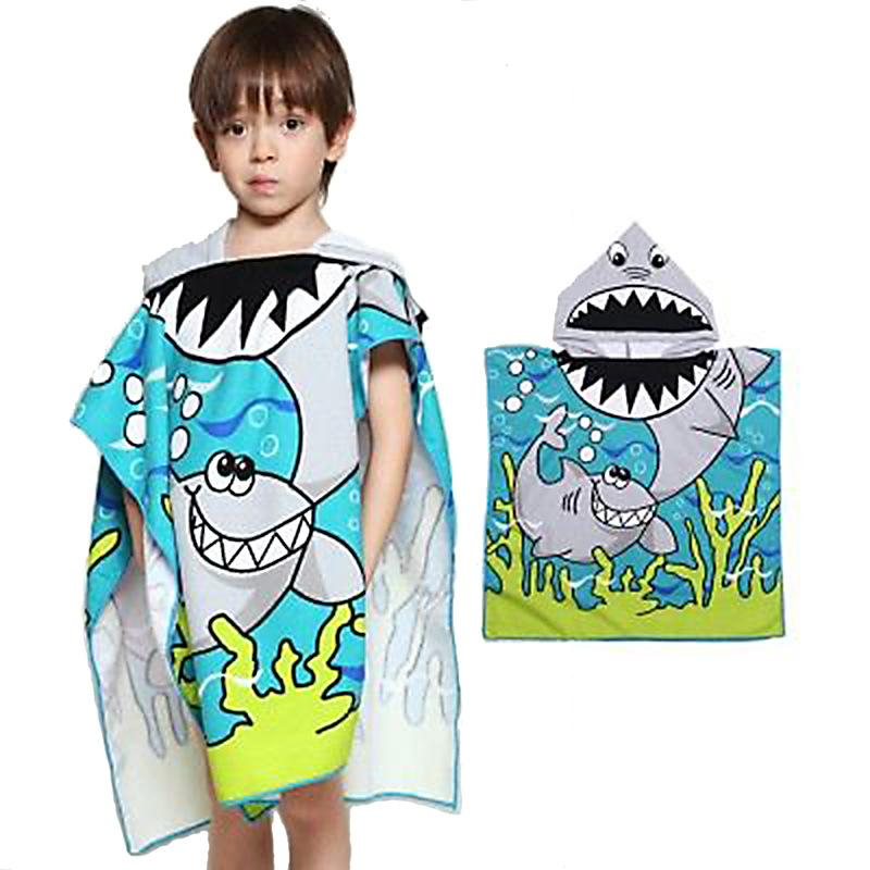 Cute Characters Hooded Beach Towel