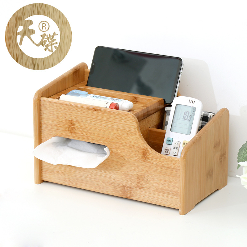Multifunctional Tissue Box Cover for Organized TV Accesories