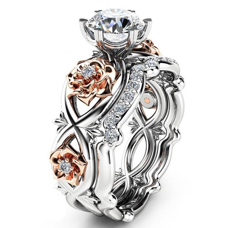 Roses and Crystal Ring