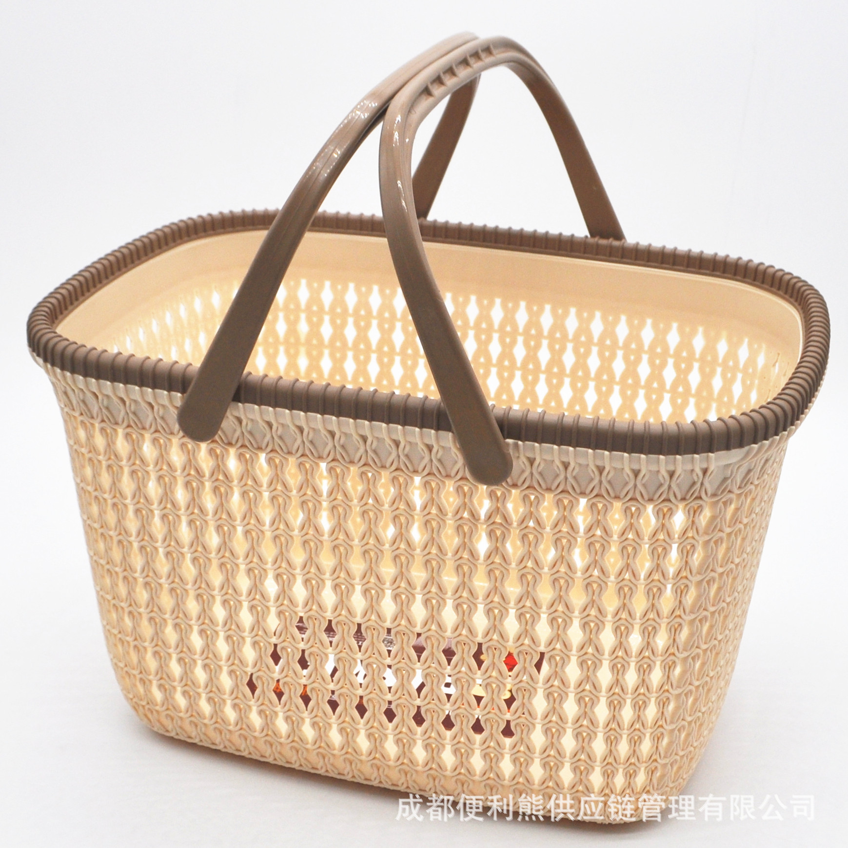 Lovely Faux Rattan Storage Basket for Laundry