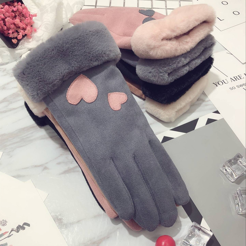 Cute Two-Layer Gloves for Winter Season
