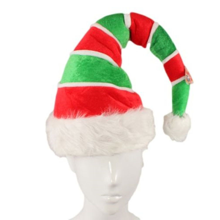 Bright Red and Green Christmas Hat for Attending Parties