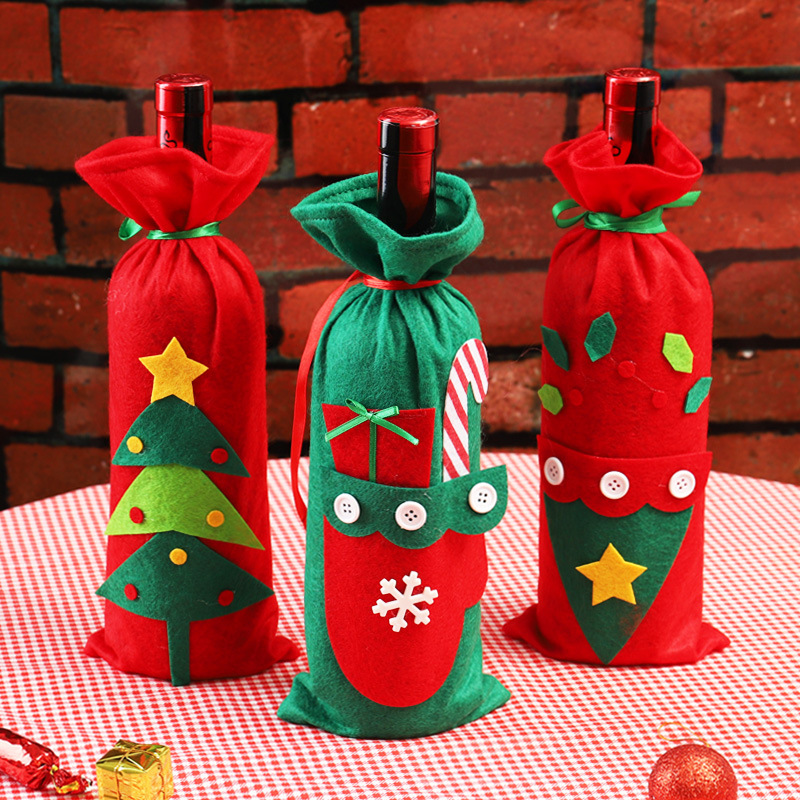Artistic Patched Wine Bottle Bag for Wonderful Gift