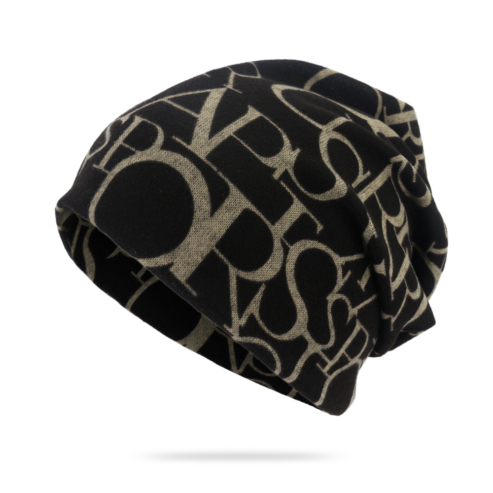 Fashionable Text Print Cap for Men and Women