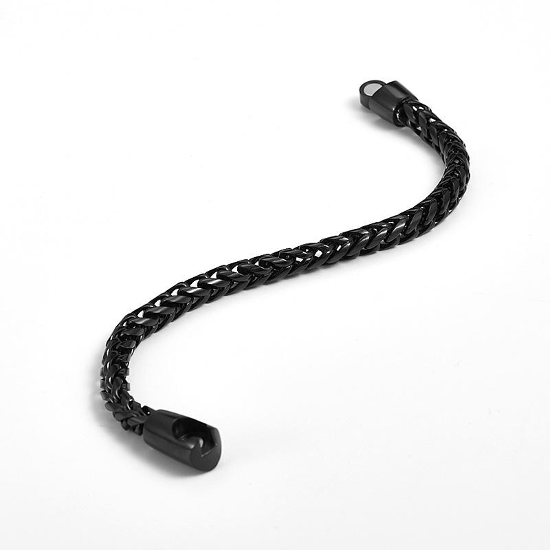 Stainless-Steel Popcorn Chain Bracelet for Men