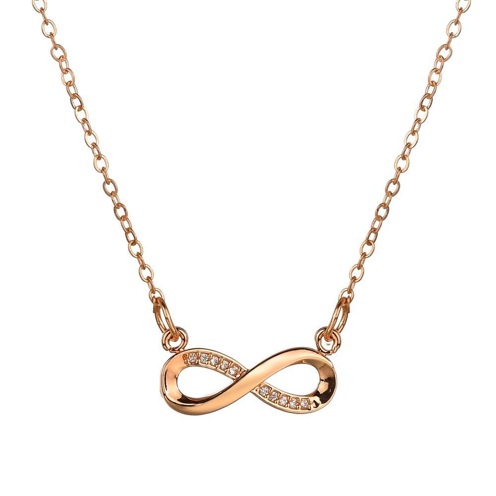 Micro Zircons Infinity Necklace