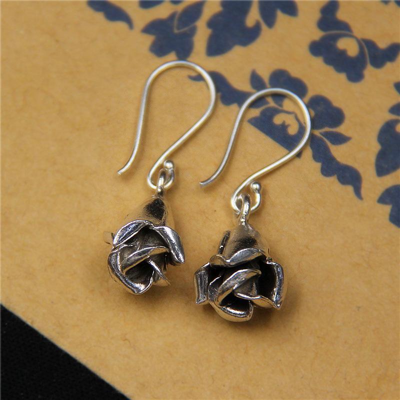 Silvers Rose Hook Earrings
