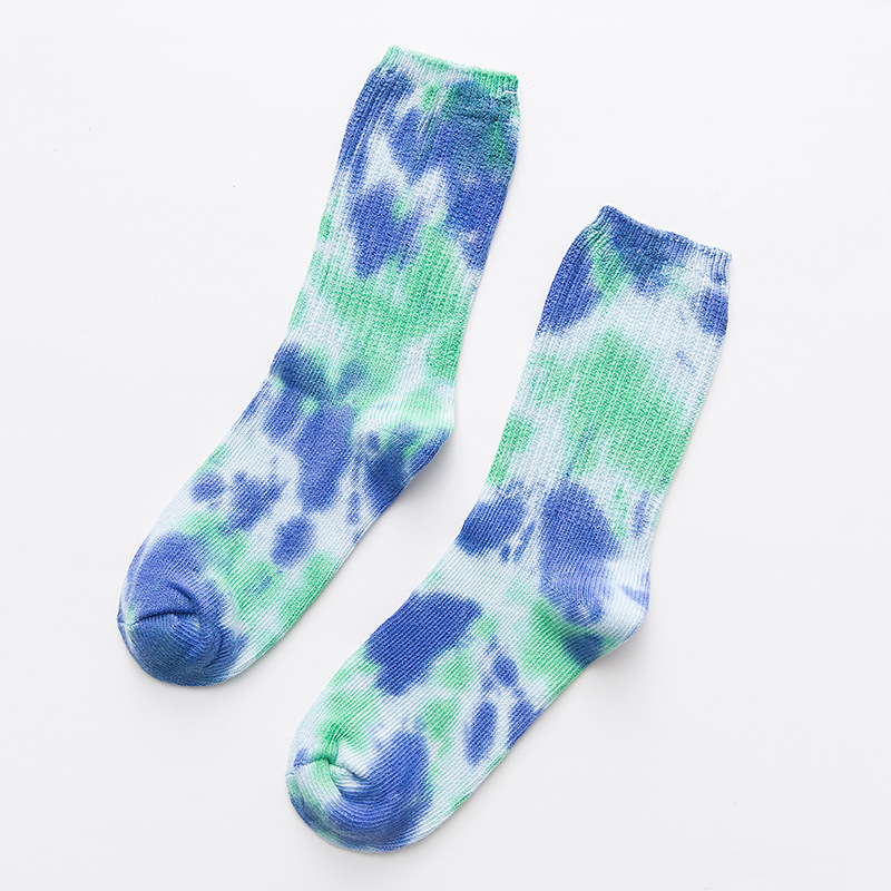 Tie Dye Long Socks for Street Fashion
