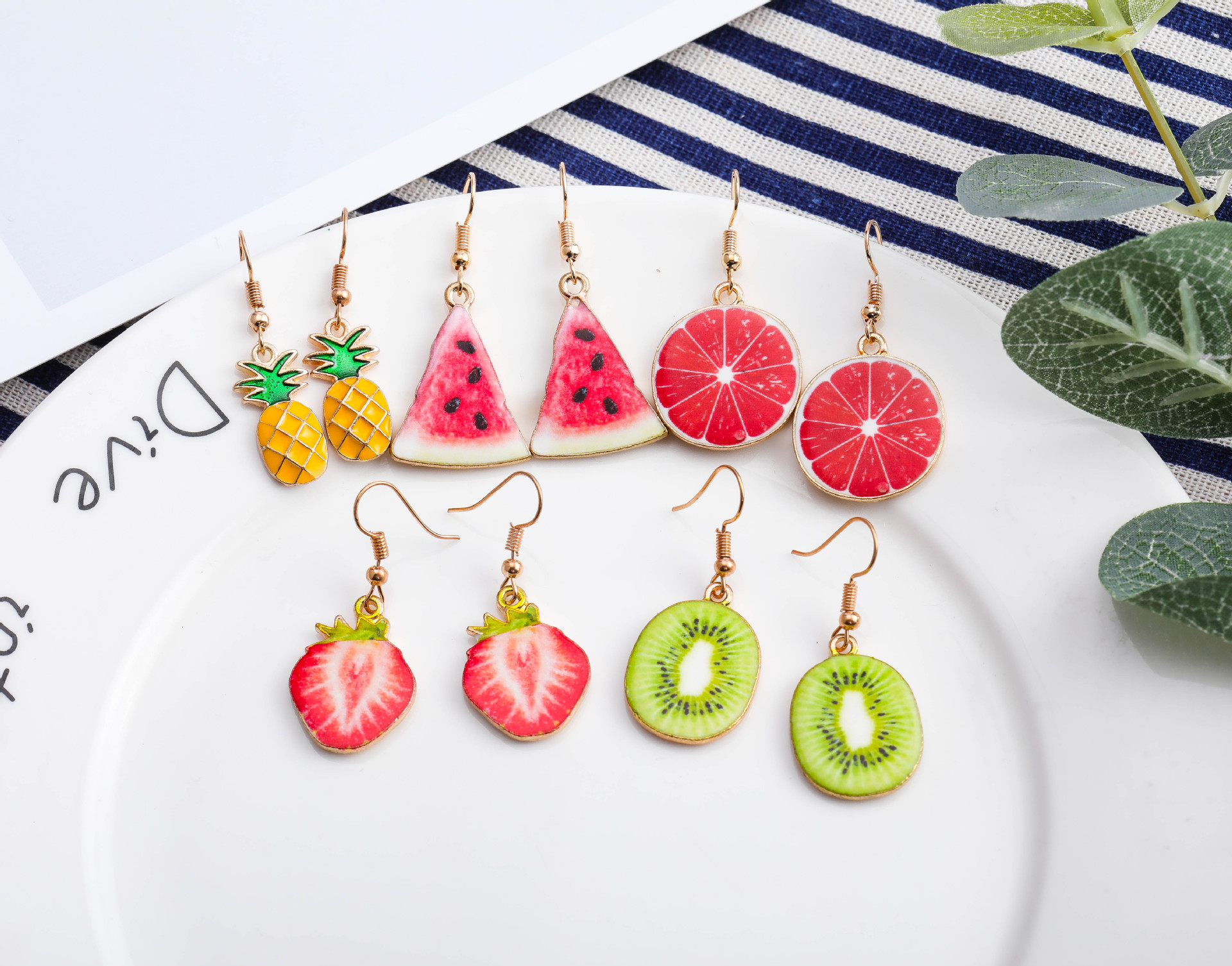 Different Fruit Design Hook Earrings for Sassy Outfits