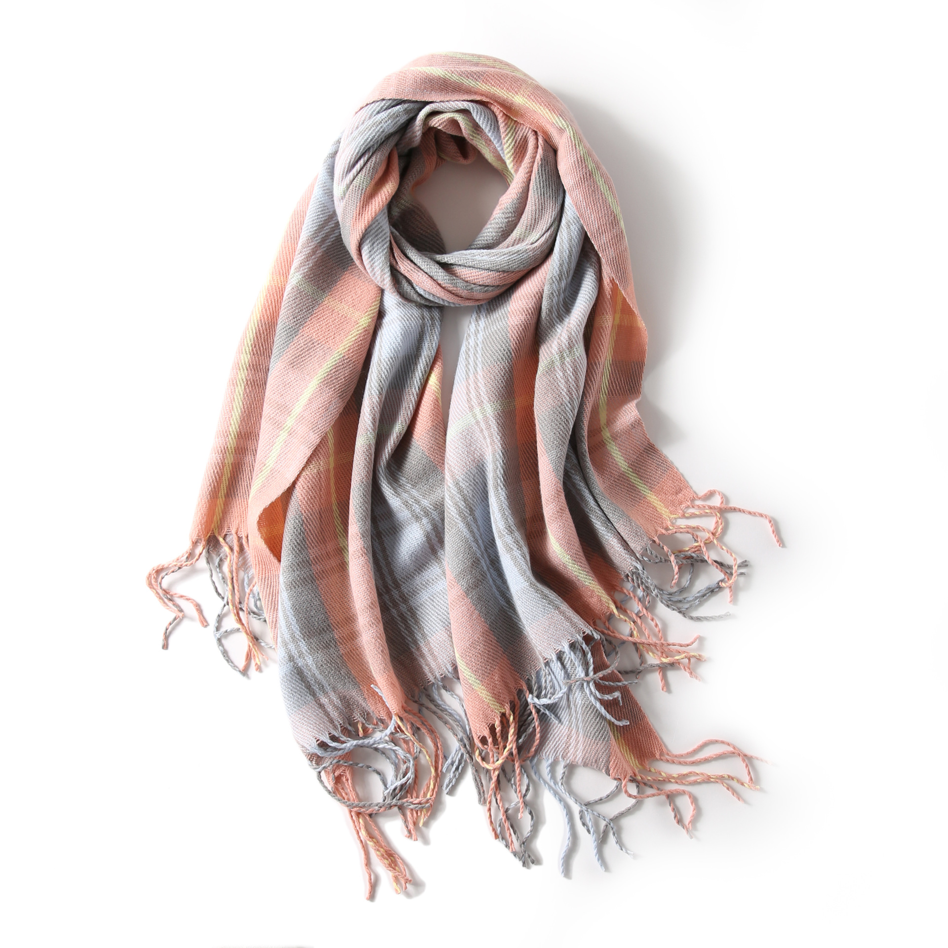 Lightweight Madras Pattern Scarf for Soft and Silky Feels