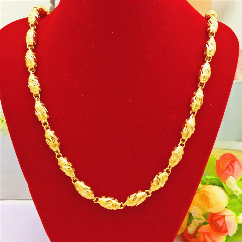 Brass Gold Plated Unique Chain Necklace for Elegant Outfits
