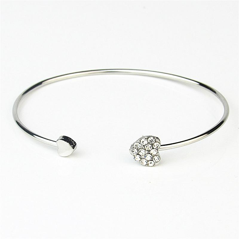 Hearts of Crystal Open Bangle