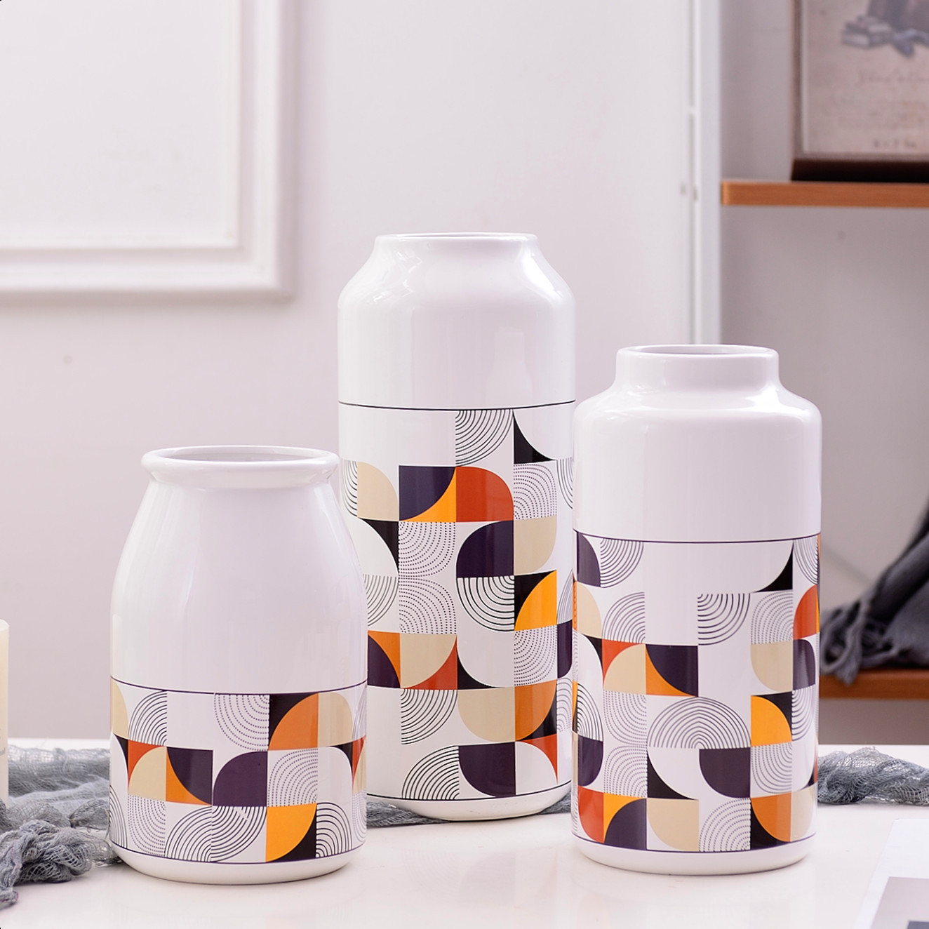 Abstract Shape Pattern Vase for Decorating Your Living Room