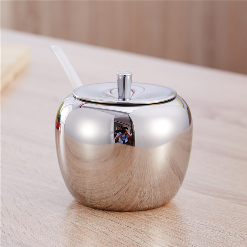 Shiny Stainless Steel Mini Seasoning Jar with Handle for Cooking
