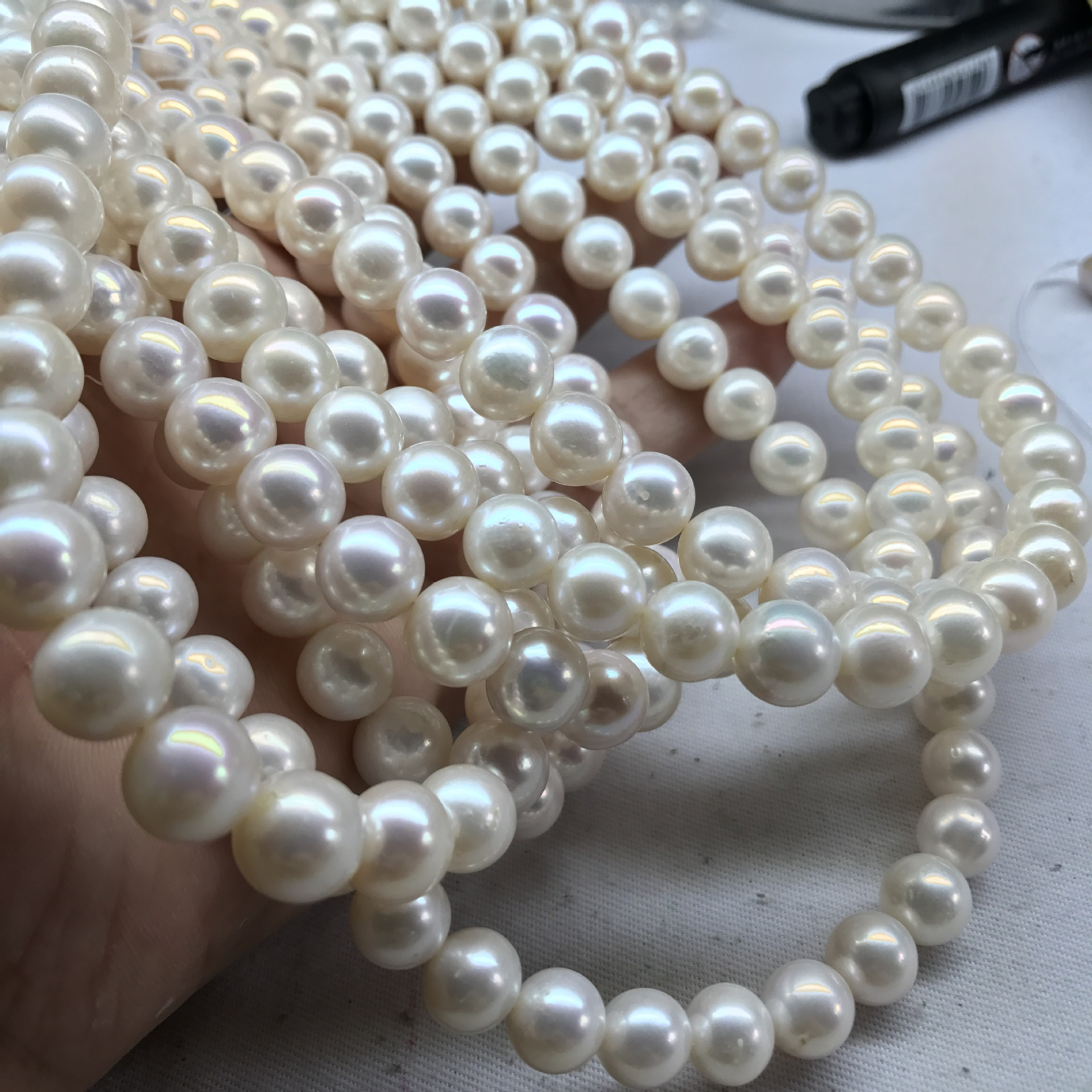 White Faux Pearl Necklace for Wedding Accessories