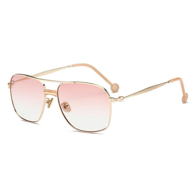 Button Temple Lid Sunglasses