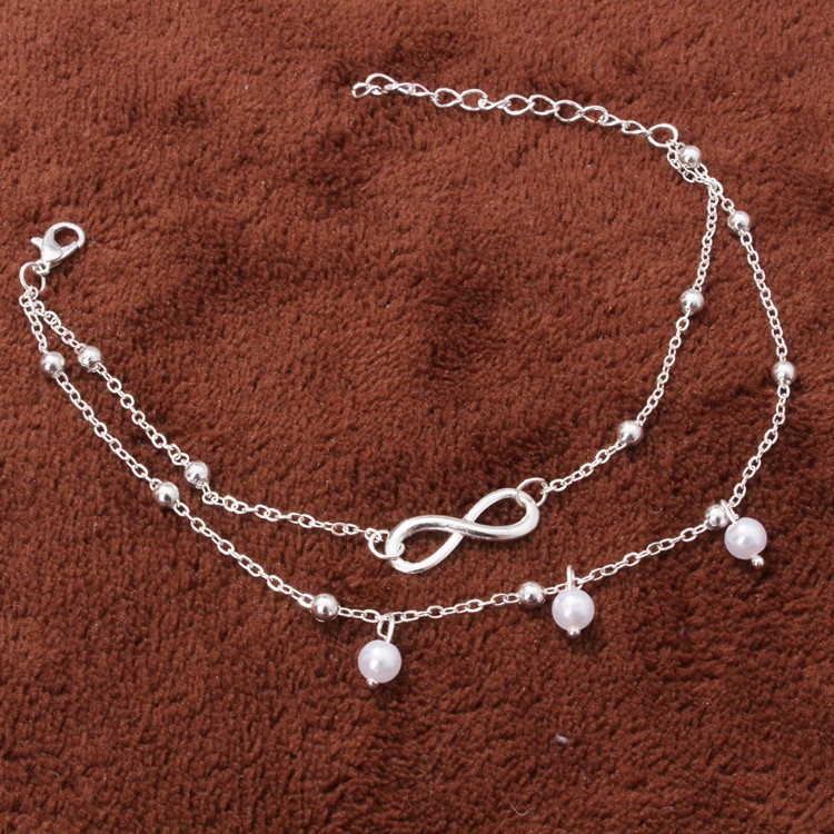 Eye-Catching Infinity Alloy Opera Anklet for Matchy with Friends