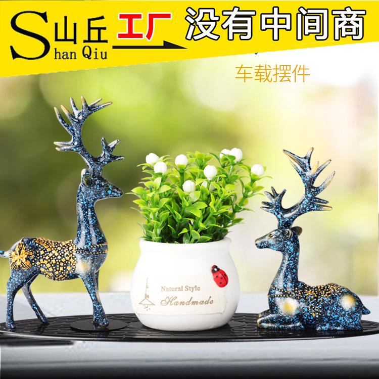 Creative Deer Figurine for Exquisite Car Interior Decorations