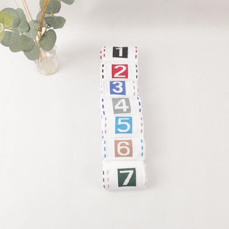 Numbers 1-7 Tall Socks (7 Pairs/Set)
